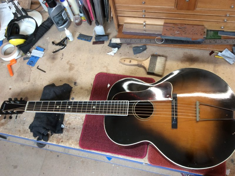 Vintage Moreno Archtop Guitar Restoration
